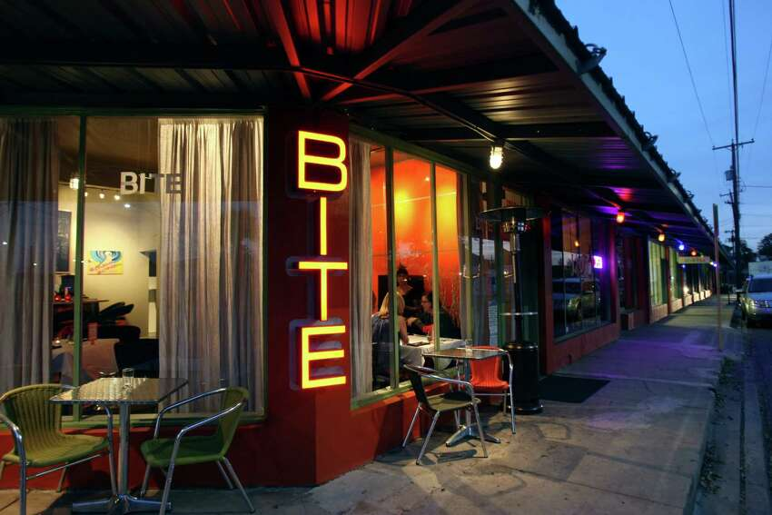 Bite 1012 S. Presa St., 210-532-2551, biterestaurantsa.com A groovy '70s vibe oozes from Lisa Astorga-Vatel's small Southtown spot that features flavors from her travels around the world. Sunday brunch is what the buzz is about, likely because of the full glasses of Champagne that have just enough orange juice to call them mimosas.