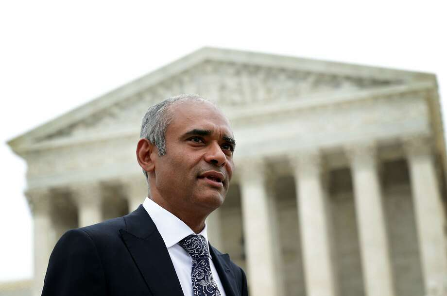 The U.S. Supreme Court has ruled against the internet streaming tv company Aereo August 24, 2014, siding with broadcasters suing the company for taking over-the-air broadcast signals and sending them over the internet. WASHINGTON, DC - APRIL 22:  Aereo CEO Chet Kanojia leaves the U.S. Supreme Court after oral arguments April 22, 2014 in Washington, DC. The Supreme Court heard arguments in a case against Aereo on the companys profiting from rebroadcasting network TVs programs obtained from public airwaves.  (Photo by Alex Wong/Getty Images) Photo: Alex Wong, Getty Images