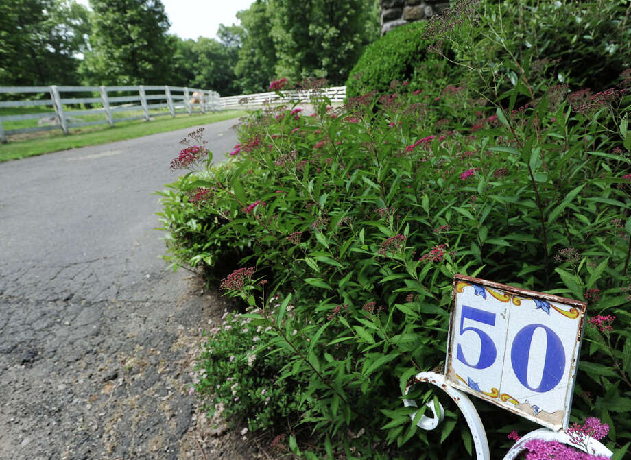 The entrance to the 25.3 acre property that is for sale with an asking price of $13,900,000 at 50 Lafrentz Rd., Greenwich, Conn., Wednesday, June 25, 2014. Photo: Bob Luckey / Greenwich Time