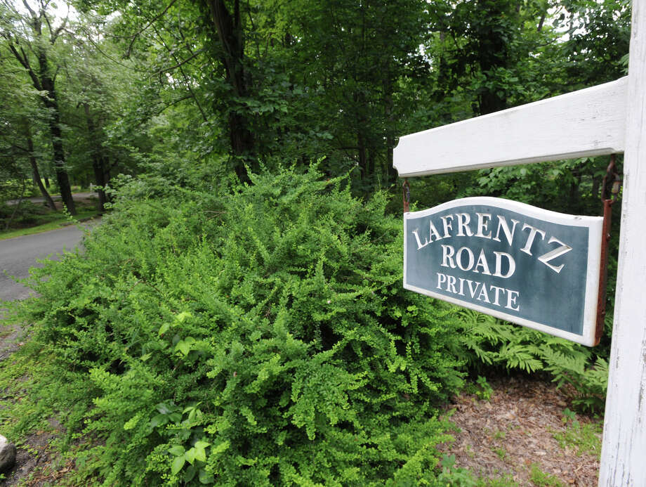The road leading up to the 25.3 acre property that is for sale with an asking price of $13,900,000 at 50 Lafrentz Rd., Greenwich, Conn., Wednesday, June 25, 2014. Photo: Bob Luckey / Greenwich Time