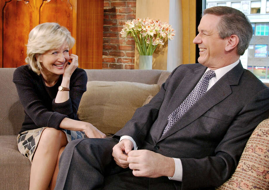 Diane Sawyer and Charles Gibson, when they were co-hosting ABC's Good Morning America, 2002. Photo: RICHARD DREW, AP / AP2002