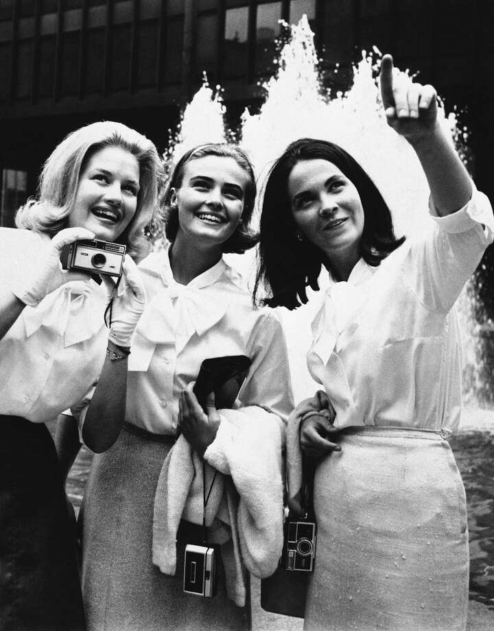 Diane Sawyer, left, poses with other Junior Miss winners in 1964 in New York City.  Photo: AP