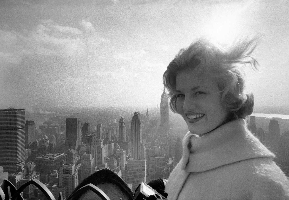 Diane Sawyer is pictured in New York City in the '60s, probably when she was touring the country as
