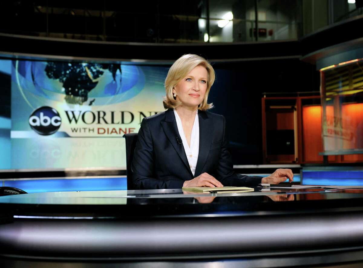 Diane Sawyer is pictured on Dec. 21, 2009, her first day as the anchor for ABC World News in New York.