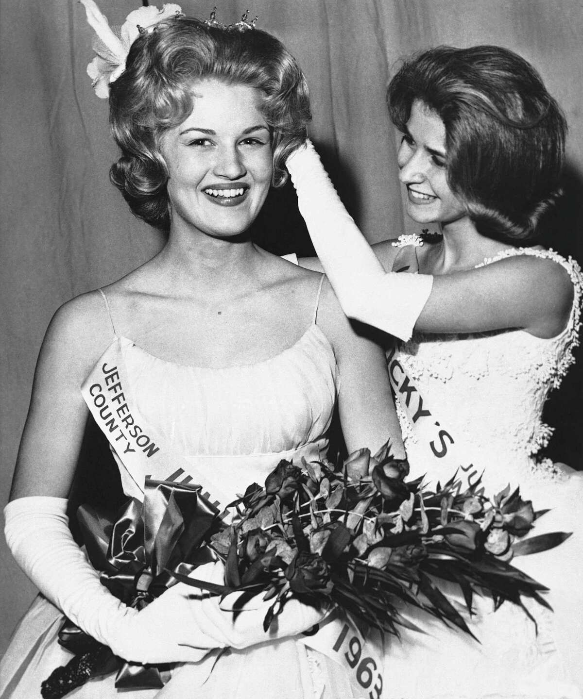 Diane Sawyer, left, was 17 when she won Kentucky's Junior Miss pageant in 1963. Sawyer went on to win the national Junior Miss contest.