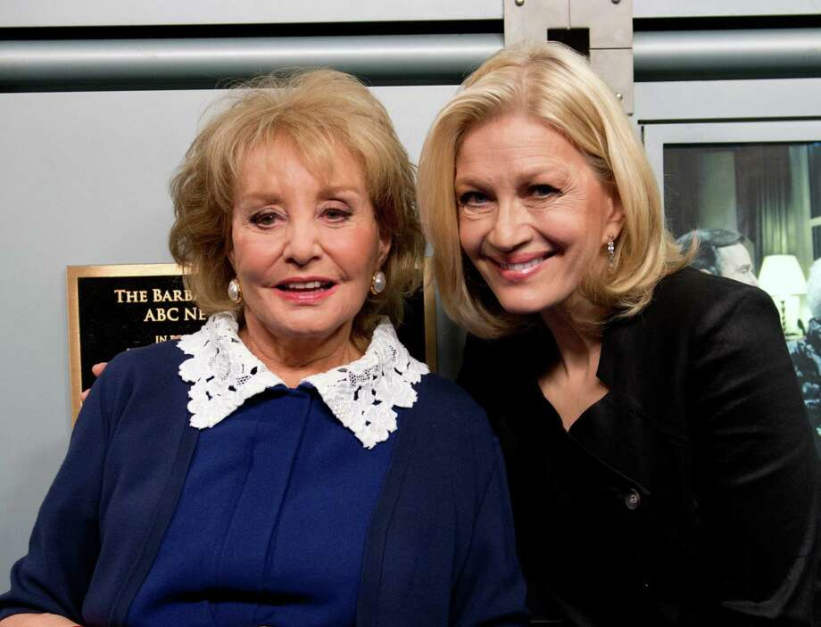 Barbara Walters, left, and Diane Sawyer, on May 12, 2014.  Photo: Noam Galai, Getty Images / 2014 Noam Galai