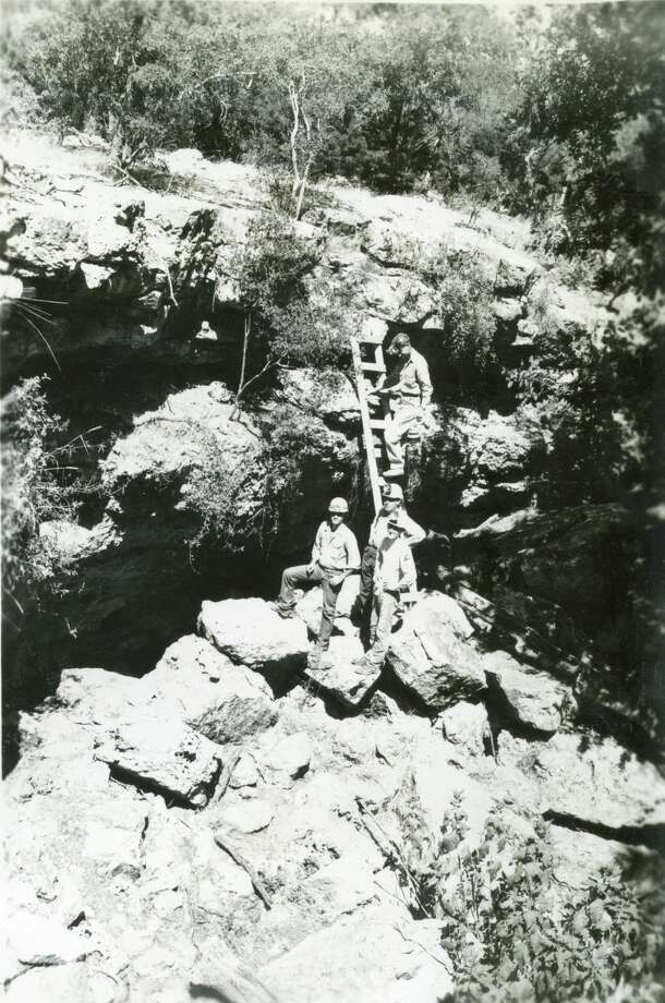 The staff at Natural Bridge Caverns shared photos of the earliest days of the excavation of the cavern in Comal County. Photo: Courtesy: Natural Bridge Caverns