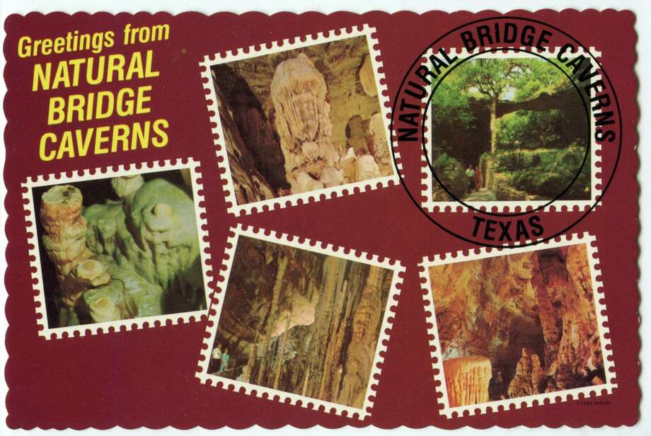 A vintage postcard from the early days of the caverns. Photo: Courtesy: Natural Bridge Caverns