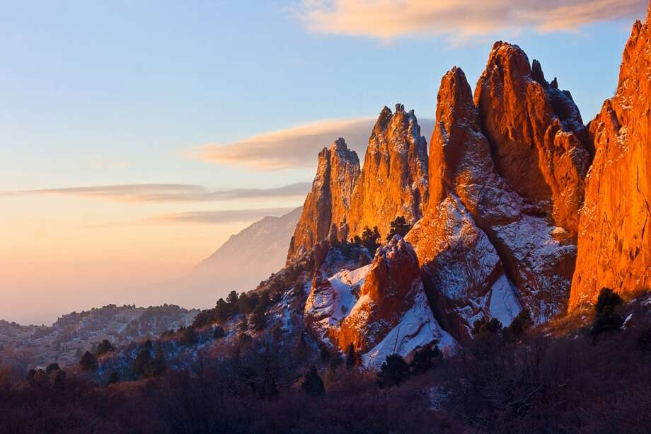 "1. Garden of the Gods, Colorado Springs, Colorado  What Trip Advisor says: ""Beautiful and majestic. One of the best city parks in the entire country. You can hike, ride horses, picnic or just relax and watch the rock climbers.""  Wonderful place to check out the rock formations, vegetation, and wildlife in the area - which are both typical or red sandstone rock formations found in many parts of the West, and also unique in detail to this location. Great views of Pike's Peak, and great trails for easy hiking with families (including trails with good wheelchair access). And best of all....FREE!  Since the park was given to the City of Colorado Springs, it has seen millions of people. Photo: Ronda Kimbrow Photography, Getty Images/Flickr RF"