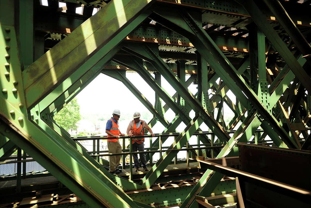 A tour of the Walk Bridge, the train bridge crossing the Norwalk River in Norwalk, Conn. on Wednesday, June 25, 2014.