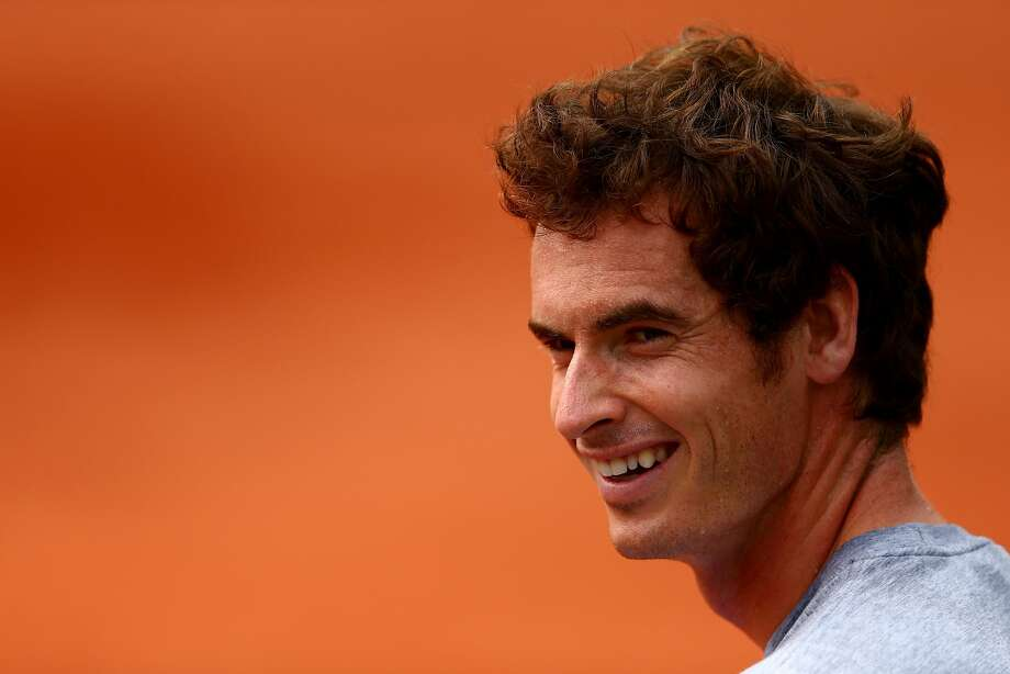 PARIS, FRANCE - JUNE 03:  Andy Murray of Great Britain smiles during a practice session on day ten of the French Open at Roland Garros on June 3, 2014 in Paris, France.  (Photo by Dan Istitene/Getty Images) Photo: Dan Istitene, Getty Images