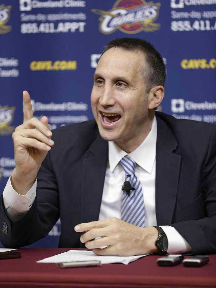 Cleveland Cavaliers new head coach David Blatt speaks to the media during a news conference Wednesday, June 25, 2014, in Independence, Ohio. Blatt spent the past two decades coaching in Israel, where he built a reputation as one of the international game's top coaches. The 55-year-old Blatt, who was born in Massachusetts and played at Princeton, is the first coach to make the move from Europe to the NBA. (AP Photo/Tony Dejak) Photo: Tony Dejak, Associated Press