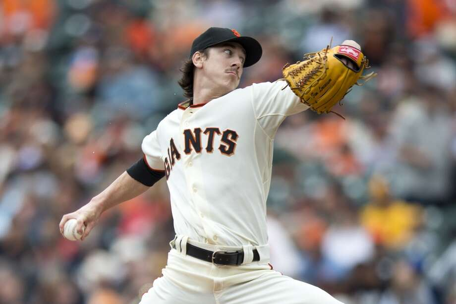 Tim Lincecum pitches against the San Diego Padres during the first inning at AT&T Park on June 25, 2014 in San Francisco, California. Photo: Jason O. Watson, Getty Images