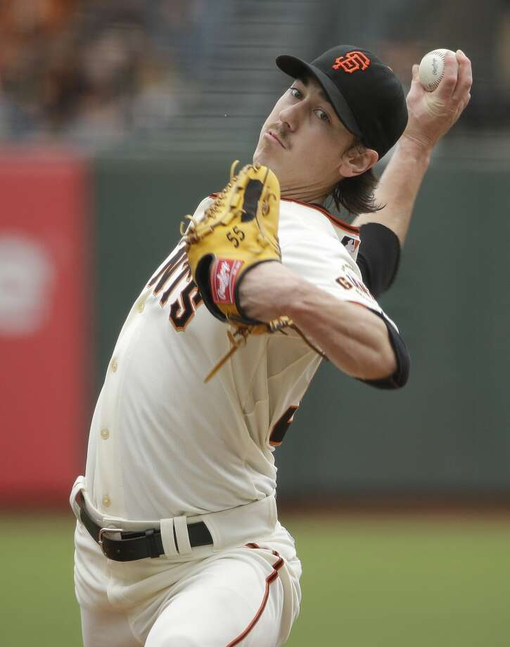 San Francisco Giants starting pitcher Tim Lincecum throws against the San Diego Padres in the first inning of their baseball game Wednesday, June 25, 2014, in San Francisco. Photo: Eric Risberg, Associated Press