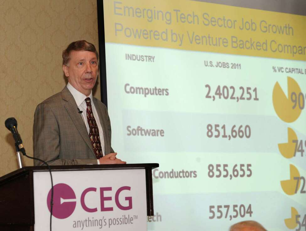 Keynote speaker Martin Babinec speaks during The Center for Economic Growth's (CEG) 18th Annual Technology Innovation Awards Luncheon at the Century House on Wednesday, June 25, 2014 in Latham, N.Y. Babinec is an entrepreneur, startup investor and venture catalyst. (Lori Van Buren / Times Union)