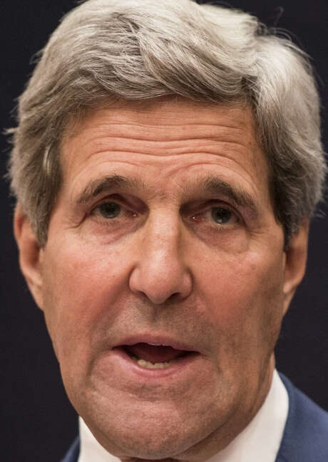 U.S. Secretary of State John Kerry speaks during a joint press conference Sunday in Cairo. / AFP
