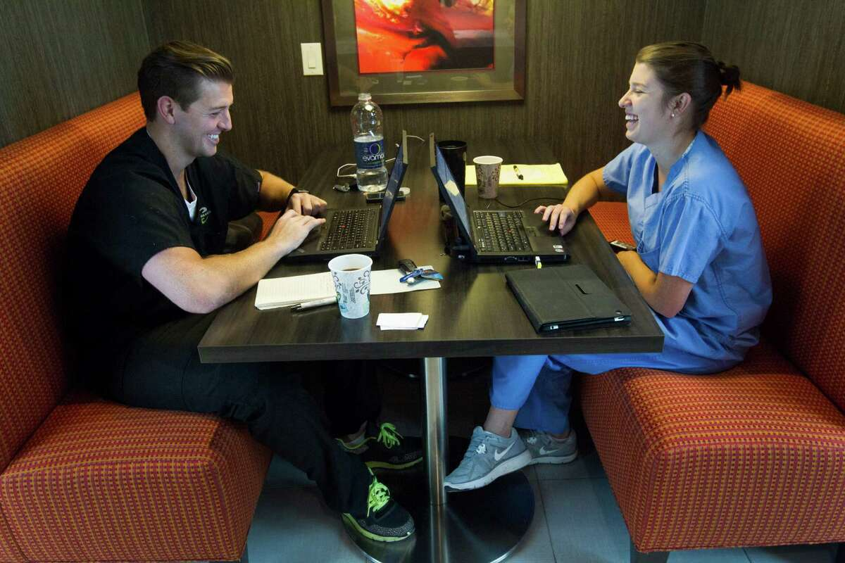 Craig Carey and fiancée Jenny Rowen moved from Arkansas to Houston to work in the Medical Center.
