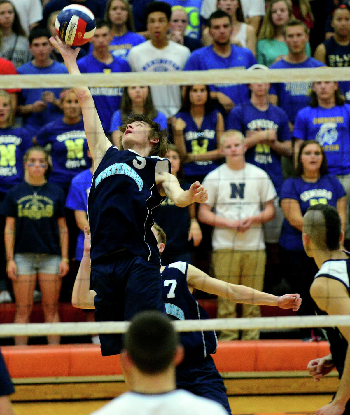 Class M Volleybal Championship action between Oxford and Newington in Shelton, Conn. on Friday June 13, 2014.