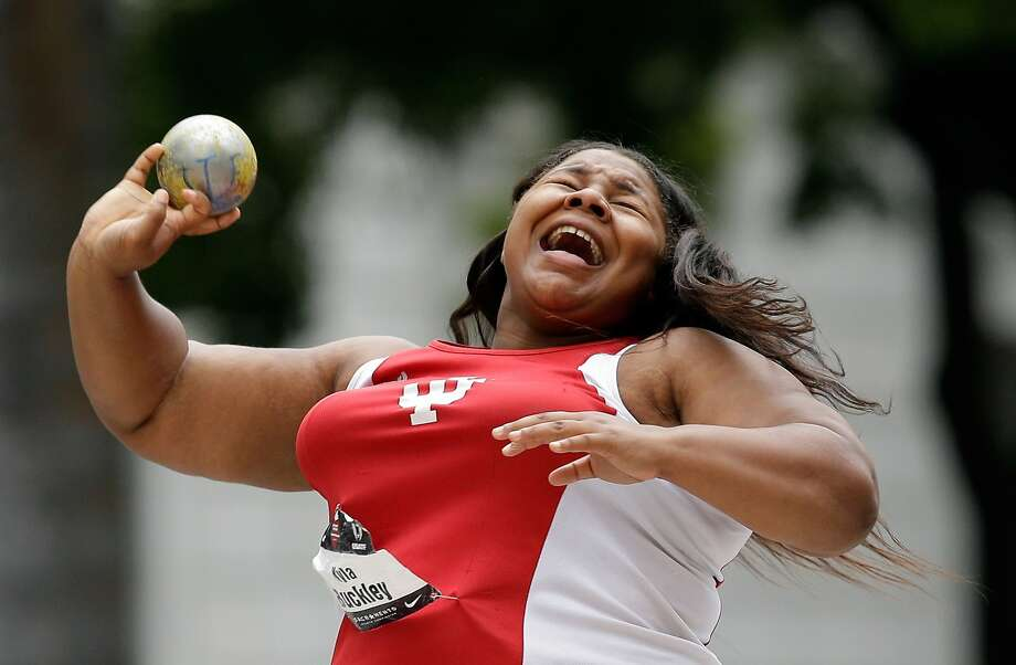 SACRAMENTO, CA - JUNE 25:  Kyla Buckley competes in the women's shot put final at the California State Capitol on day 1 of the USATF Outdoor Championships on June 25, 2014 in Sacramento, California.  (Photo by Ezra Shaw/Getty Images) Photo: Ezra Shaw, Getty Images