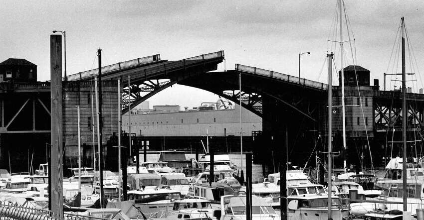 Then: The 16th Avenue South Bridge is shown in Seattle's South Park neighborhood in this Aug. 17, 1988 photo by Phil H. Webber.
