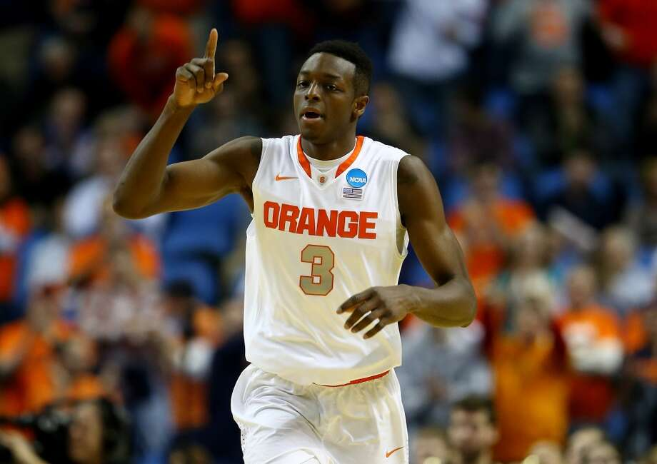 27. Phoenix – Jerami Grant, 6-8, F, Syracuse  The Suns would rather not add three rookies, but if they get backcourt help with the earlier picks, Grant would be a solid frontcourt choice. Photo: Elsa, Getty Images