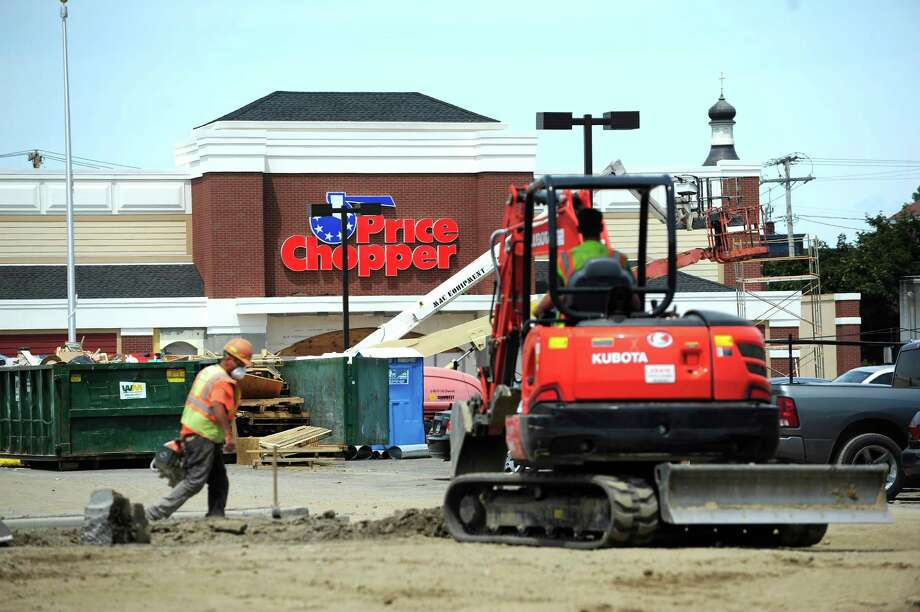 Construction work continues on the new Price Chopper store being built at the site of the former St. Patrick's Church, seen here on Monday, June 23, 2014, in Watervliet, N.Y.(Paul Buckowski / Times Union) Photo: Paul Buckowski / 00027482A