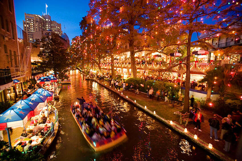 River Walk - Hands down, the most unique romantic spot in San Antonio, especially romantic during dusk. Check out