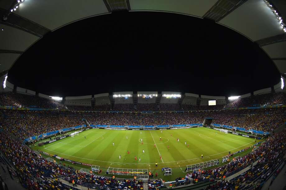 A general view of the stadium during the 2014 FIFA World Cup Brazil Group G match between Ghana and the United States at Estadio das Dunas on June 16, 2014 in Natal, Brazil.  (Photo by Laurence Griffiths/Getty Images) Photo: Laurence Griffiths, Getty Images