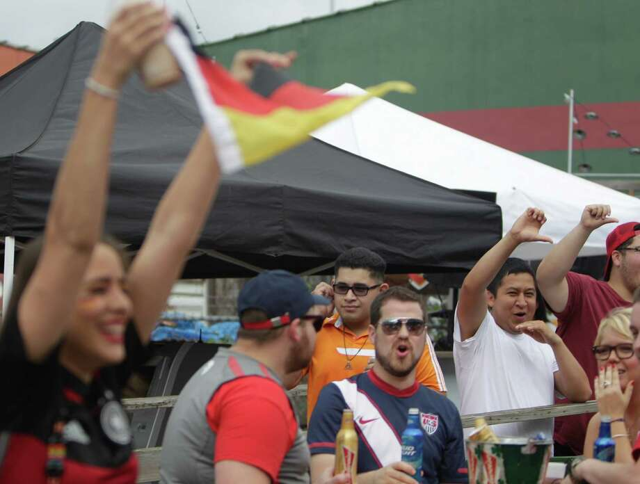 Fans gather at Lucky's Pub to the view the USA vs Germany World Cup game on June 26, 2014 in Houston. Photo: Mayra Beltran / Houston Chronicle