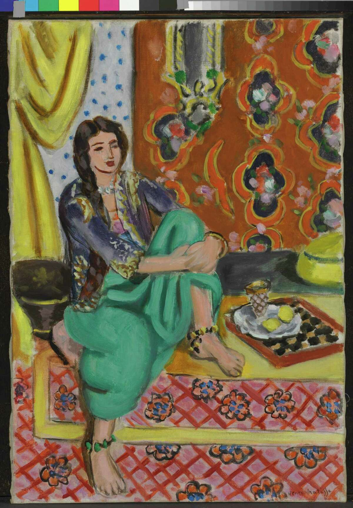 Henri Matisse Bed- and chair-ridden due to abdominal cancer, Matisse began making his famous cutouts at age 72.