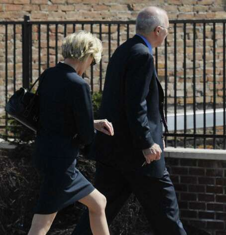 Former State Supreme Court Justice Thomas Spargo, walks toward his vehicle after lunching at Lombardo's with Albany County Surrogate Judge Cathryn Doyle Friday, March 31, 2006. (Will Waldron/Times Union archive) Photo: WW / ALBANY TIMES UNION