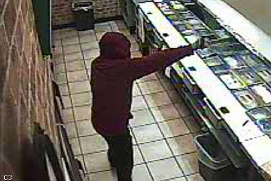 Colonie police released this surveillance image as part of their investigation onto a robbery at the Fuller Road Subway shop. (Colonie police)