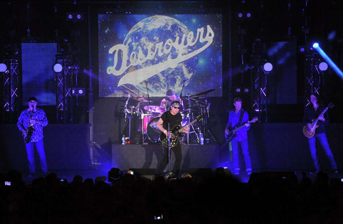 George Thorogood and the Destroyers perform at the Empire State Plaza Convention Center on Wednesday June 25, 2014 in Albany, N.Y. (Michael P. Farrell/Times Union)
