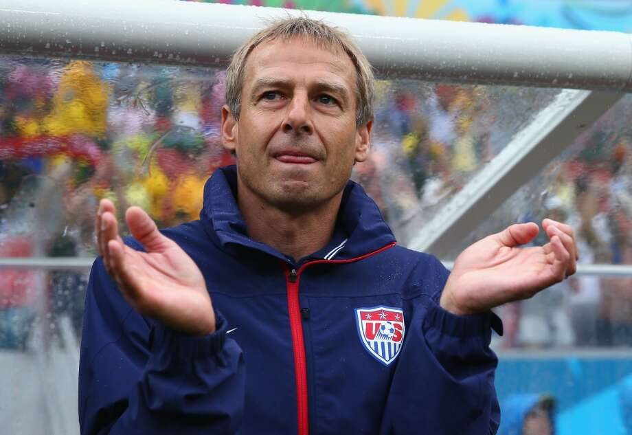 RECIFE, BRAZIL - JUNE 26: Head coach Jurgen Klinsmann of the United States looks on during the 2014 FIFA World Cup Brazil group G match between the United States and Germany at Arena Pernambuco on June 26, 2014 in Recife, Brazil.  (Photo by Kevin C. Cox/Getty Images) Photo: Kevin C. Cox, Getty Images