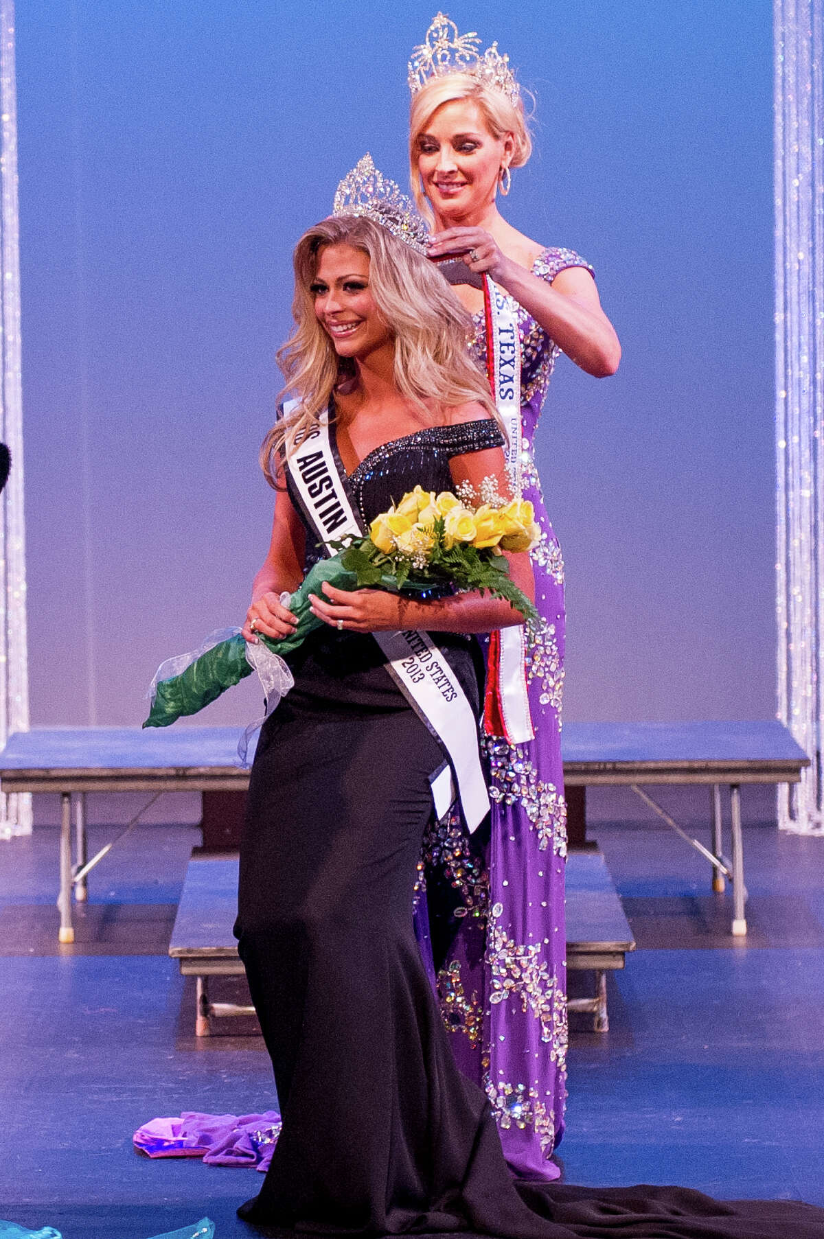Beth Isbell is crowned Mrs. Texas United States in Houston on May 18