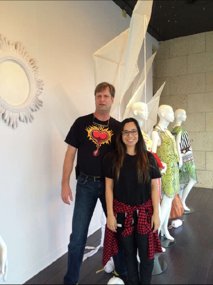 Michael Levermann and Samantha Plasencia are window designers at Julian Gold. Photo: Courtesy Photo