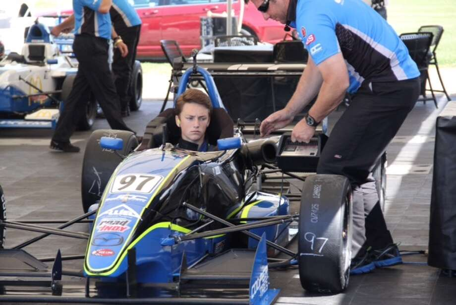 Woodlands teenager Clark Toppe will make his Pro Mazda debut at the Houston Grand Prix this weekend.  The 16-year-old has been racing since he was 10. Photo: Clark Toppe