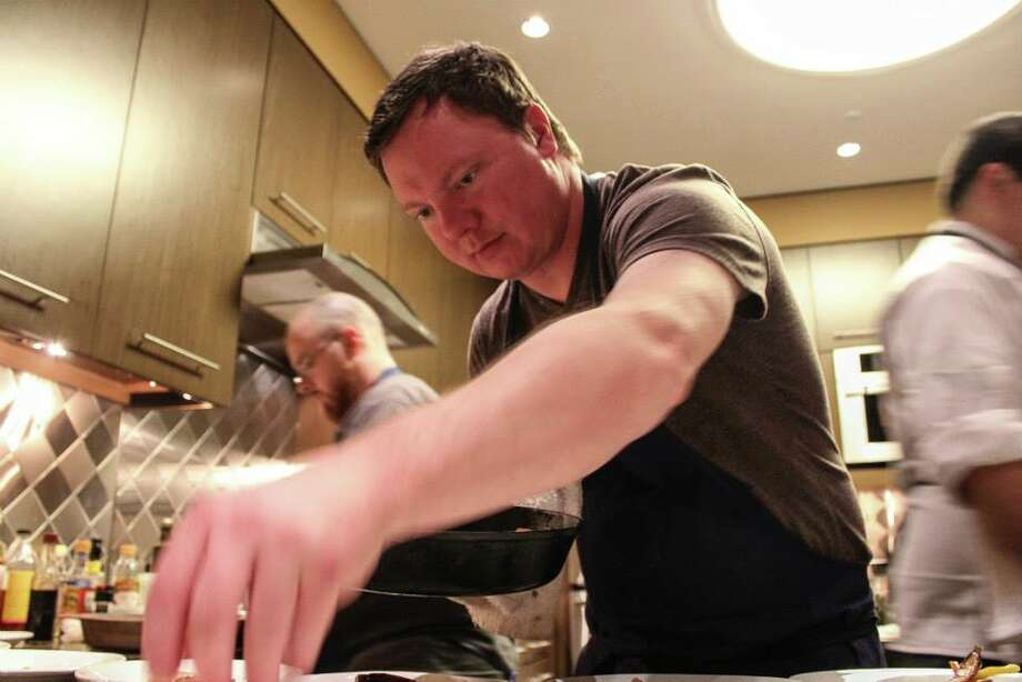 Ben McPherson during a Bull and the Pearl pop-up dinner. (Photo: The Bull and the Pearl)
