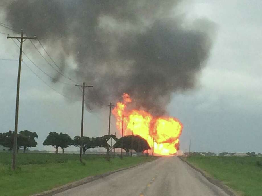 A view of the gas line rupture in Wharton County. (Wharton County Constable's Office, Precinct 2 Facebook)