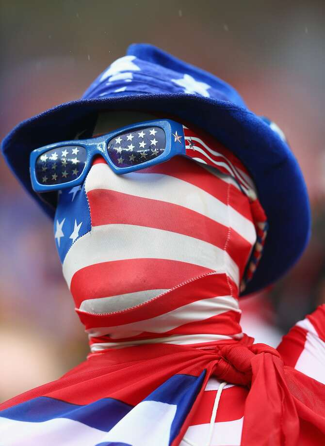 A fan of the United States looks on prior to the 2014 FIFA World Cup Brazil group G match between the United States and Germany at Arena Pernambuco on June 26, 2014 in Recife, Brazil. Photo: Michael Steele, Getty Images