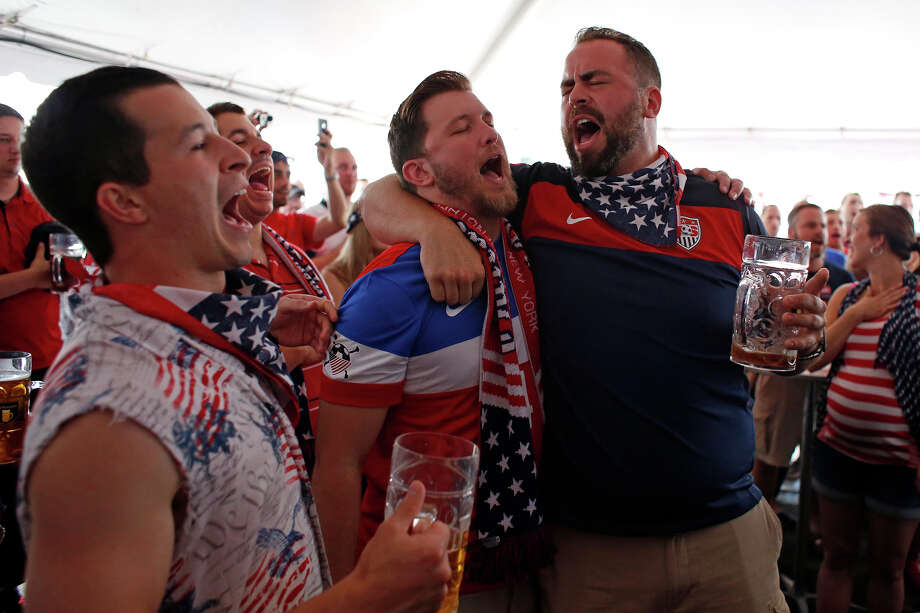 American fans cheer for their team in the World Cup match against Germany Thursday, June 26, 2014, while watching the game at Wolff's Biergarten in Albany, N.Y.   (Tom Brenner/ Special to the Times Union) Photo: Tom Brenner / ©Tom Brenner/ Albany Times Union