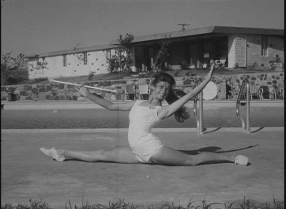The mystery footage shows an apparent 1950s baton twirling summer camp with champion twirlers from across the state. Photo: Texas Archive Of The Moving Image