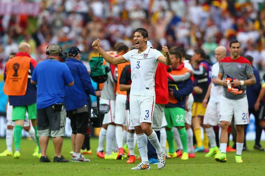 Omar Gonzalez of the United States celebrates after the U.S. advanced to the round of 16. Photo: Michael Steele, Getty Images