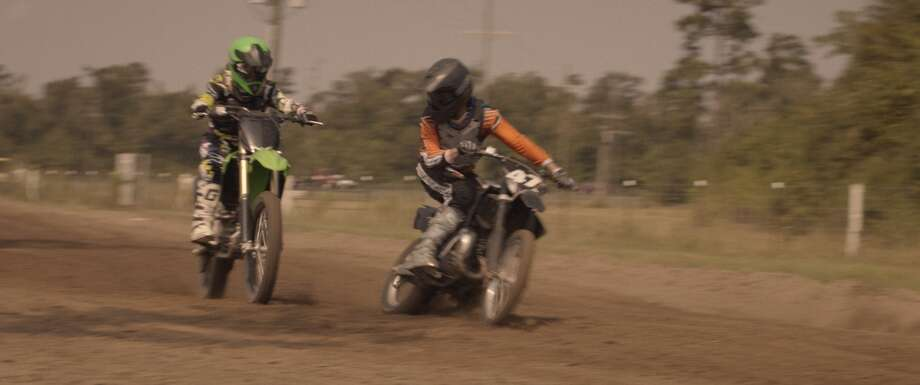 A scene from Hellion filmed at Cowboy Badlands Motocross Park. Publicity still provided by Brett Pawlak