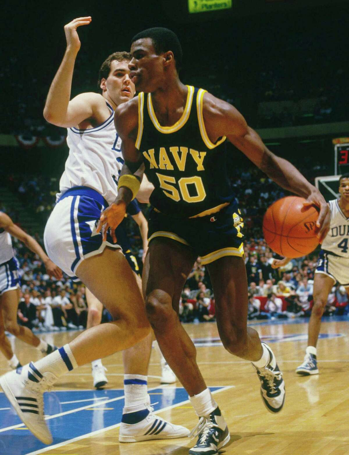 Grew 7 inches in college: The 7-foot-1, left-hander led the nation in rebounding and blocked shots as a senior in 1987 and won both the Naismith and Wooden awards as player of the year.