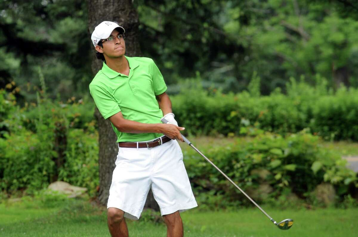 Jason Morilla plays golf at the Greenwich Townwide Golf championships at Griffith E. Harris Golf Club, in Greenwich, Conn., Sunday, June 3013.