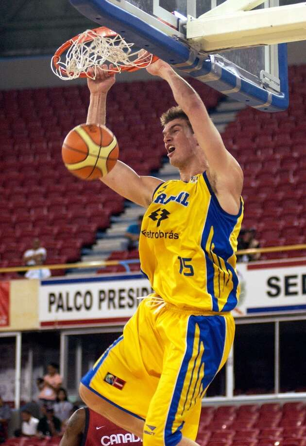 2007 at No. 28: Tiago Splitter,  Brazil Photo: WALTER ASTRADA, AFP/Getty Images