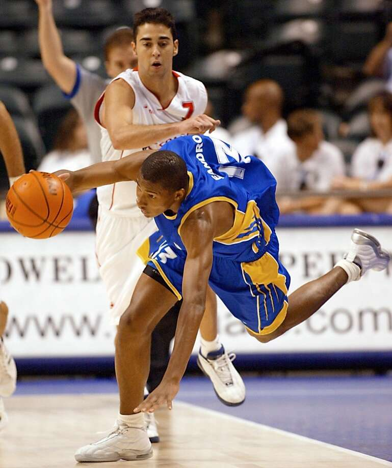 2003 at No. 28: Leandro Barbosa,  Brazil Photo: STEVE MITCHELL, AFP/Getty Images