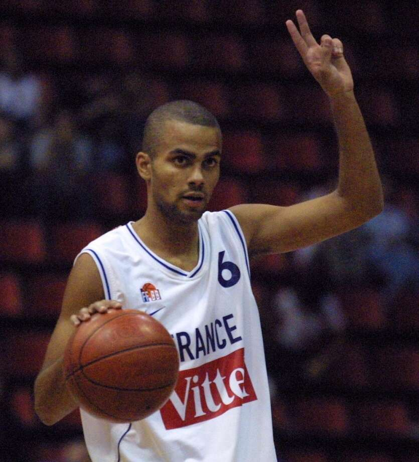 2001 at No. 28: Tony Parker,  France Photo: JACQUES DEMARTHON, AFP/Getty Images
