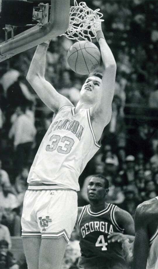 1990 at No. 24: Dwayne Schintzius,  	University of Florida Photo: Collegiate Images, Getty Images